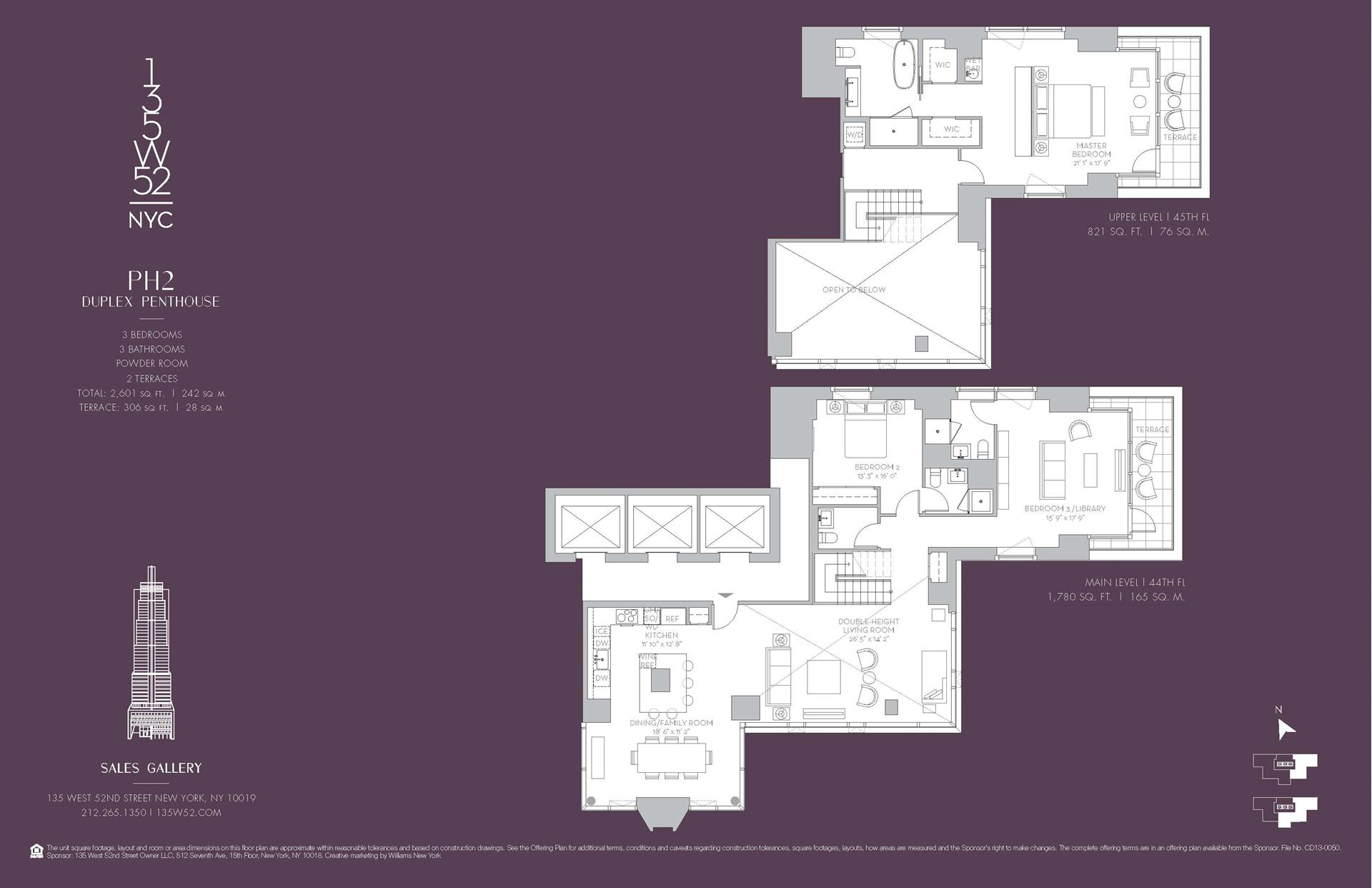 Floor plan of 135 West 52nd St, PH2 - Midtown, New York