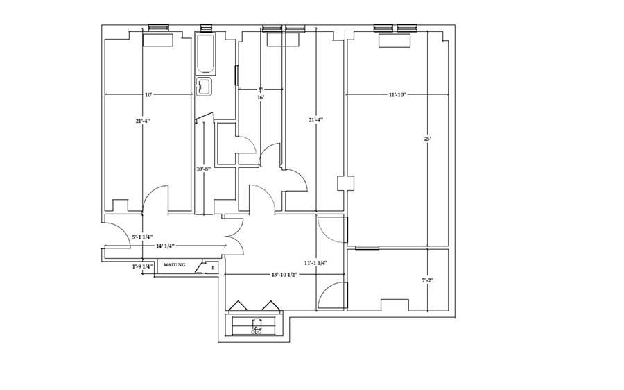 Floor plan of 440 West End Avenue, 1C - Upper West Side, New York