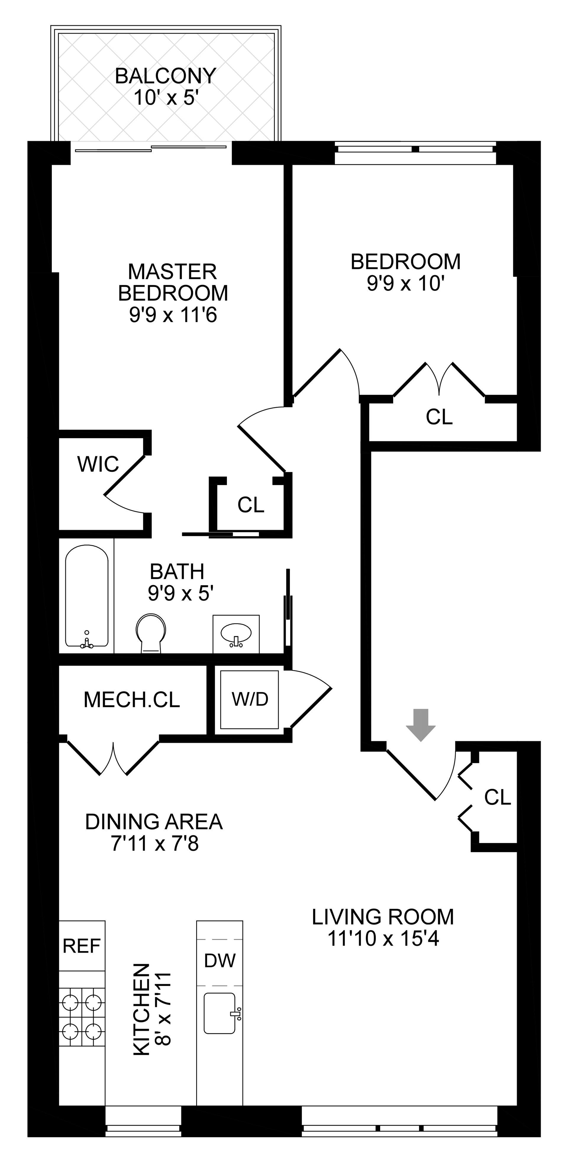 Floor plan of 165 Taaffe Pl, 3 - Clinton Hill, New York