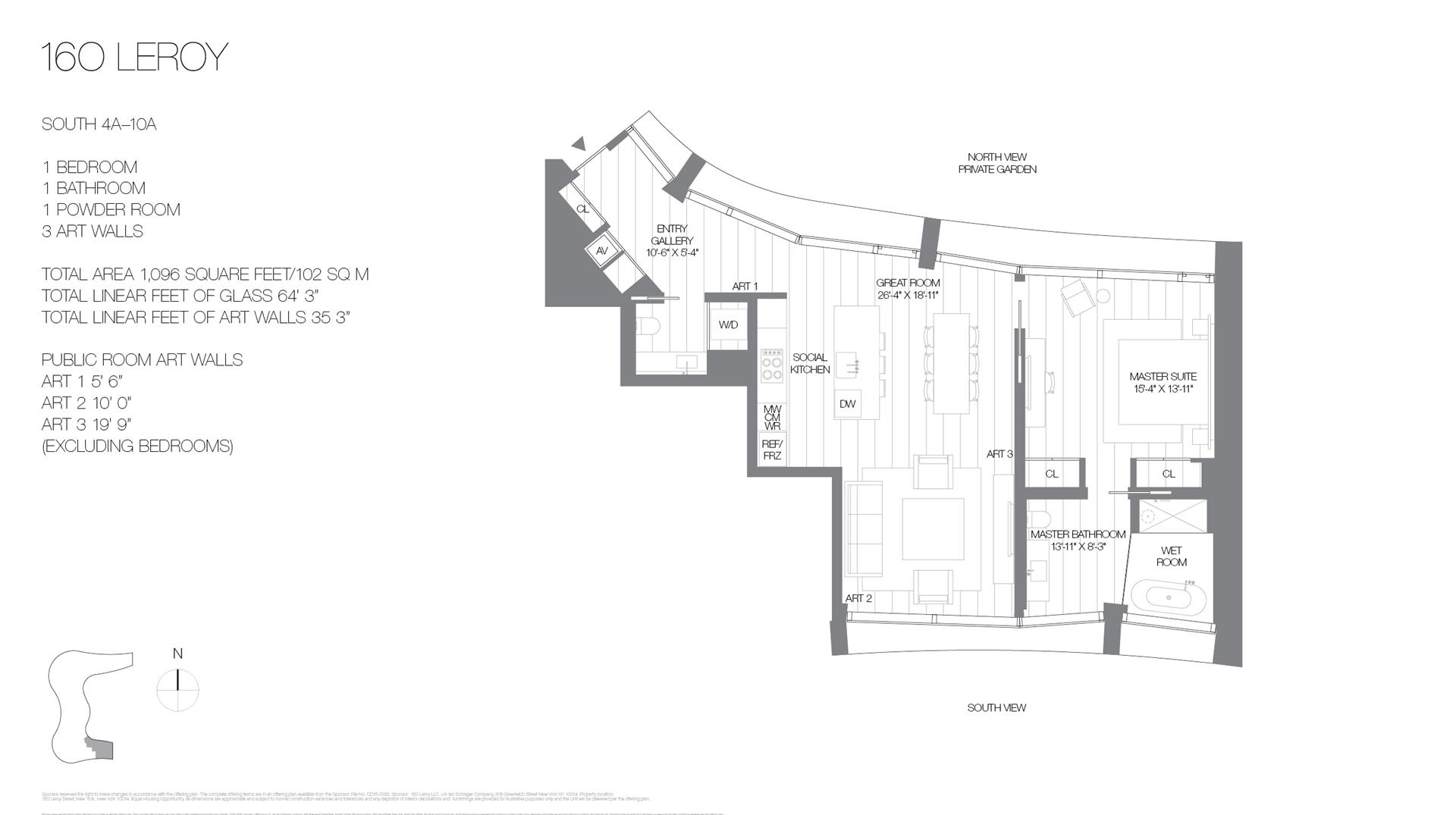 Floor plan of 160 Leroy St, SOUTH9A - West Village - Meatpacking District, New York