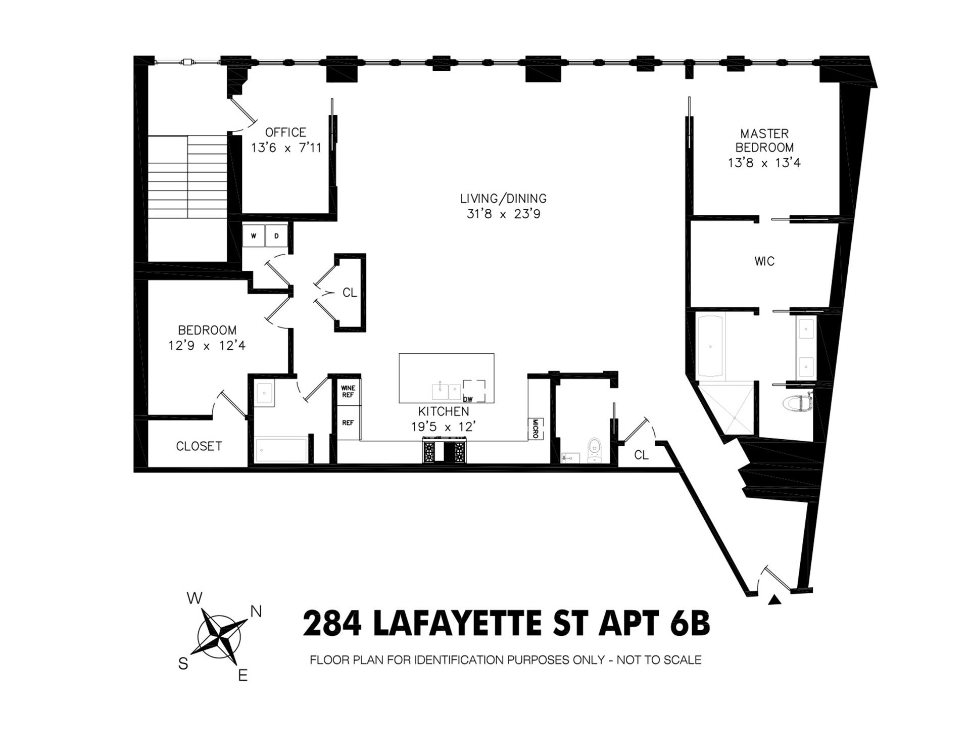 Floor plan of 284 Lafayette St, 6 - SoHo - Nolita, New York