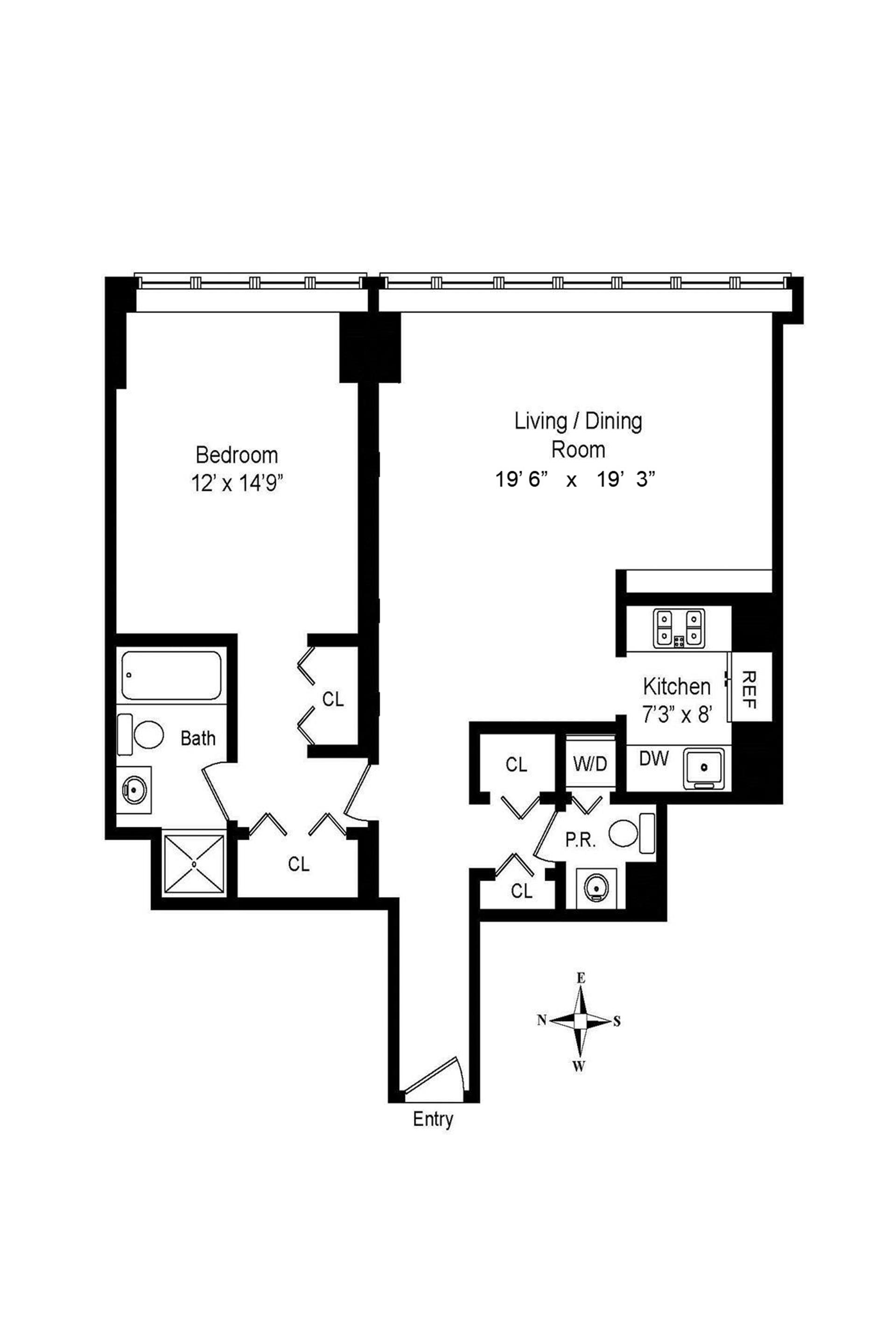 Floor plan of 3 LINCOLN CENTER, 160 West 66th St, 37F - Lincoln Square, New York