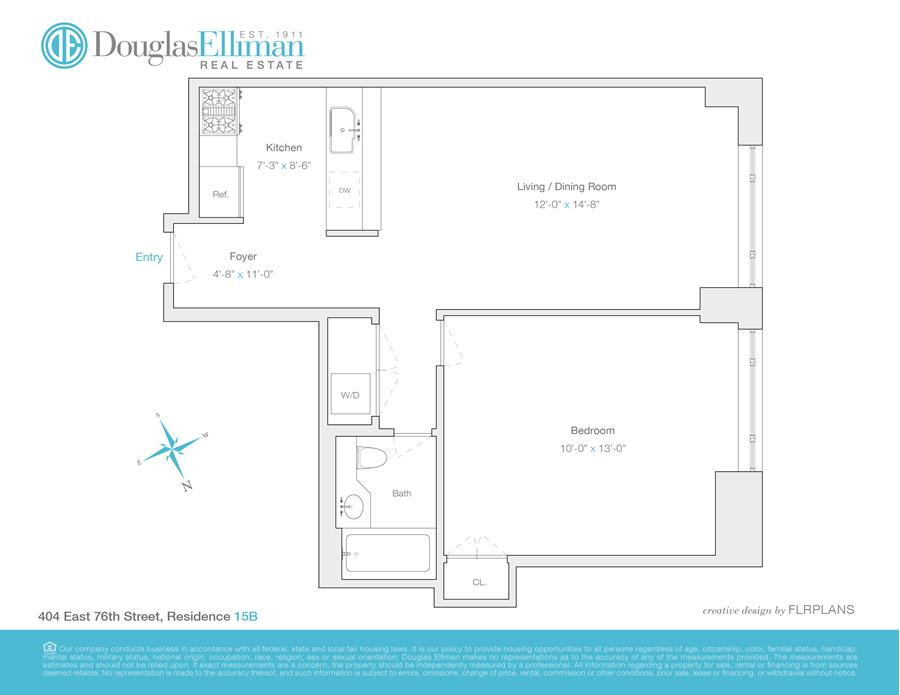 Floor plan of THE IMPALA, 404 East 76th St, 15B - Upper East Side, New York
