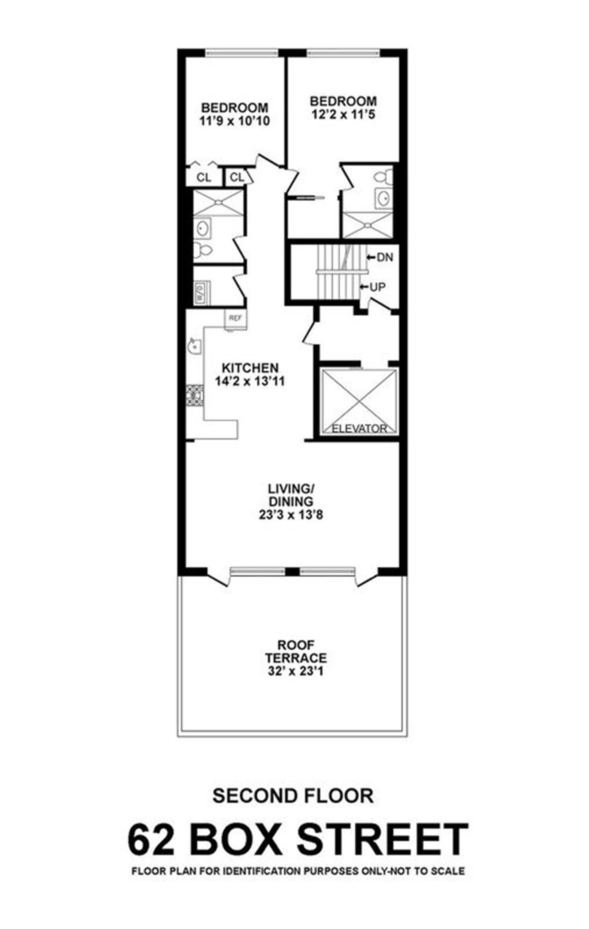 Floor plan of 62 Box St, 2 - Greenpoint, New York