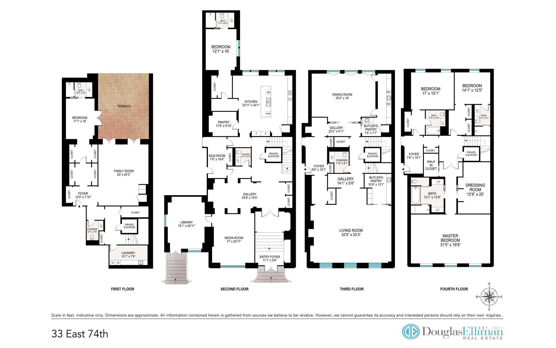 Floor plan of 33 East 74th St, TH - Upper East Side, New York