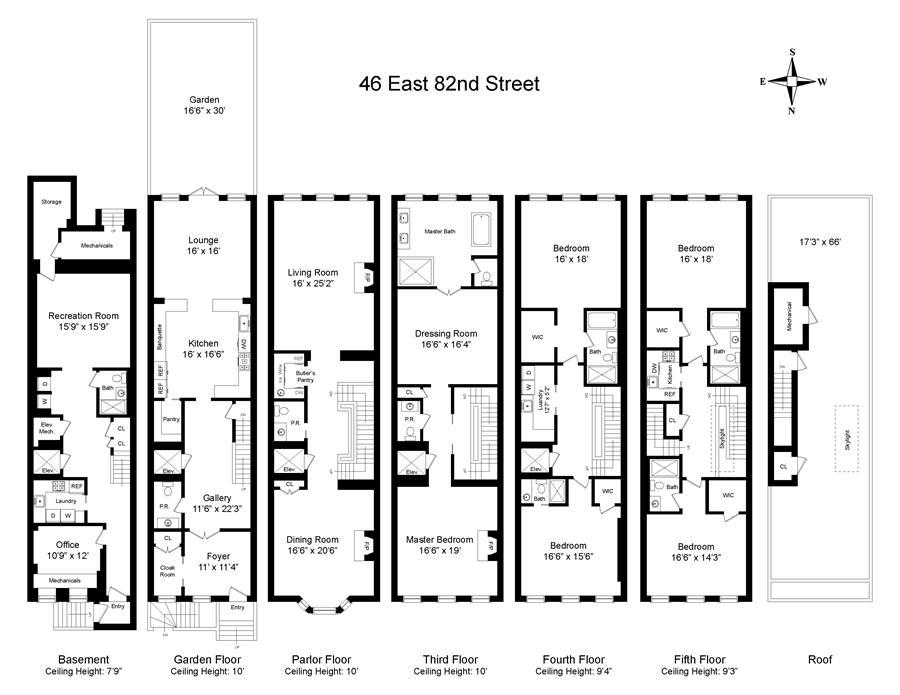 Floor plan of 46 East 82nd St - Upper East Side, New York