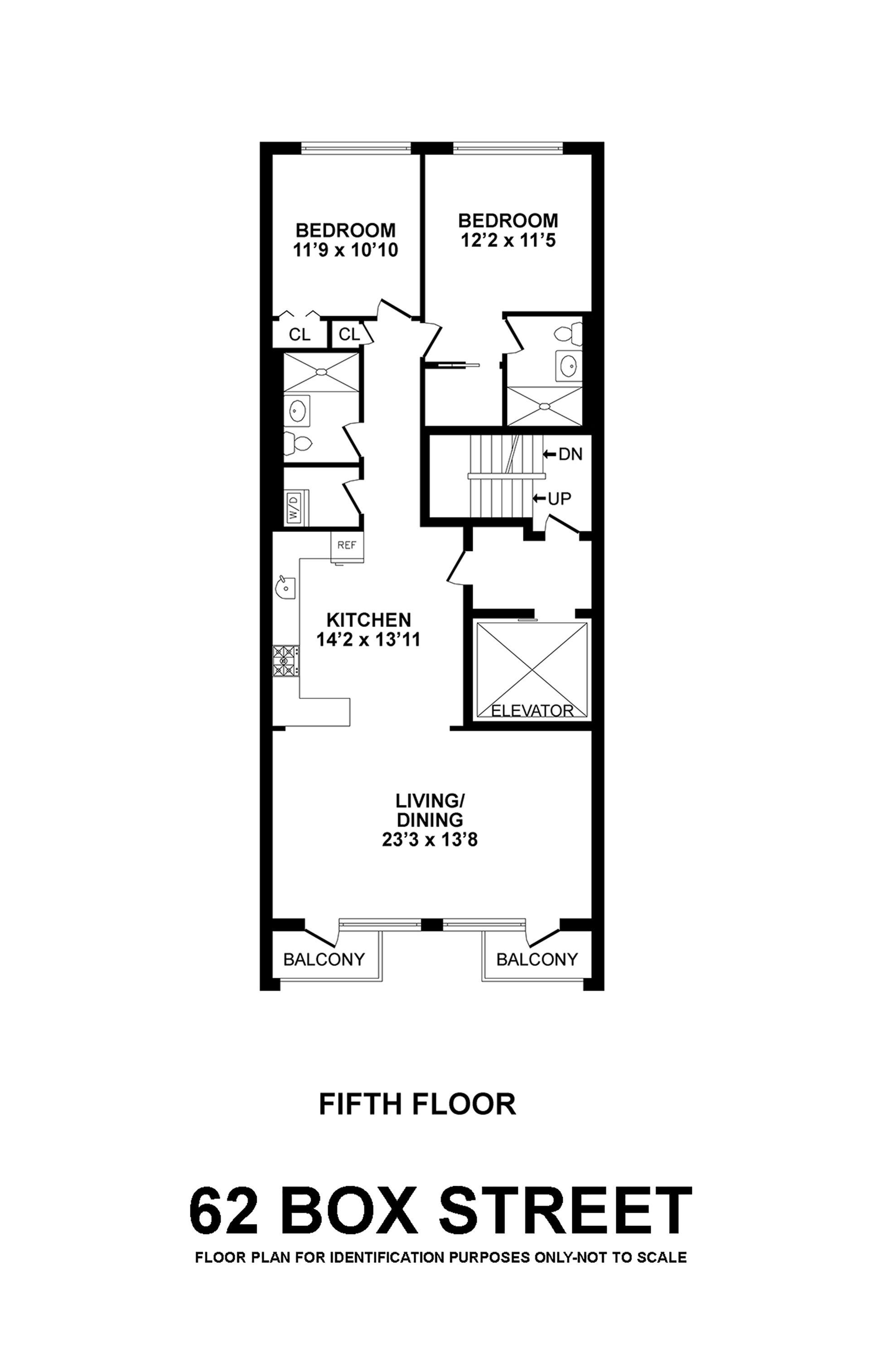 Floor plan of 62 Box St, 5 - Greenpoint, New York