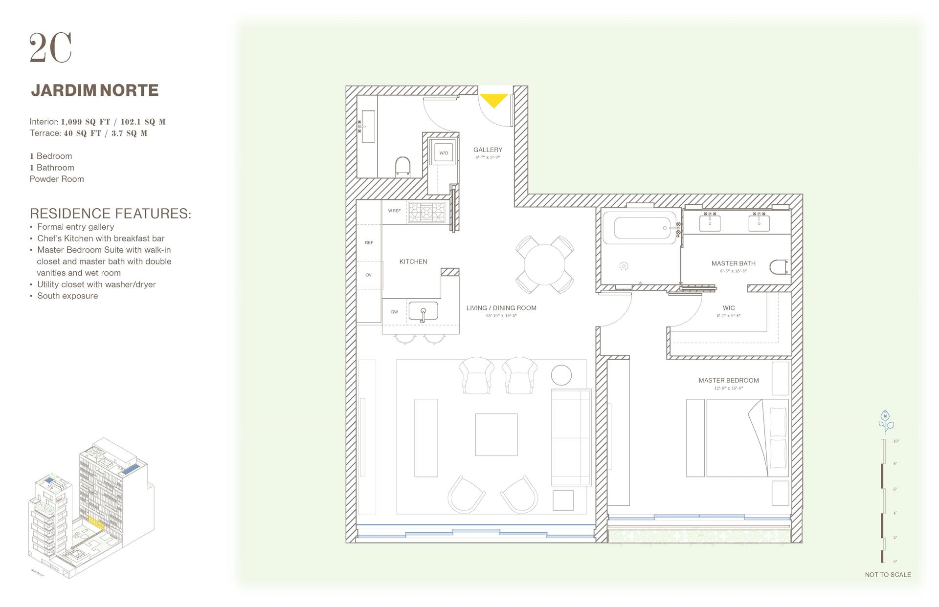 Floor plan of Jardim, 527 West 27th St, 2C - Chelsea, New York