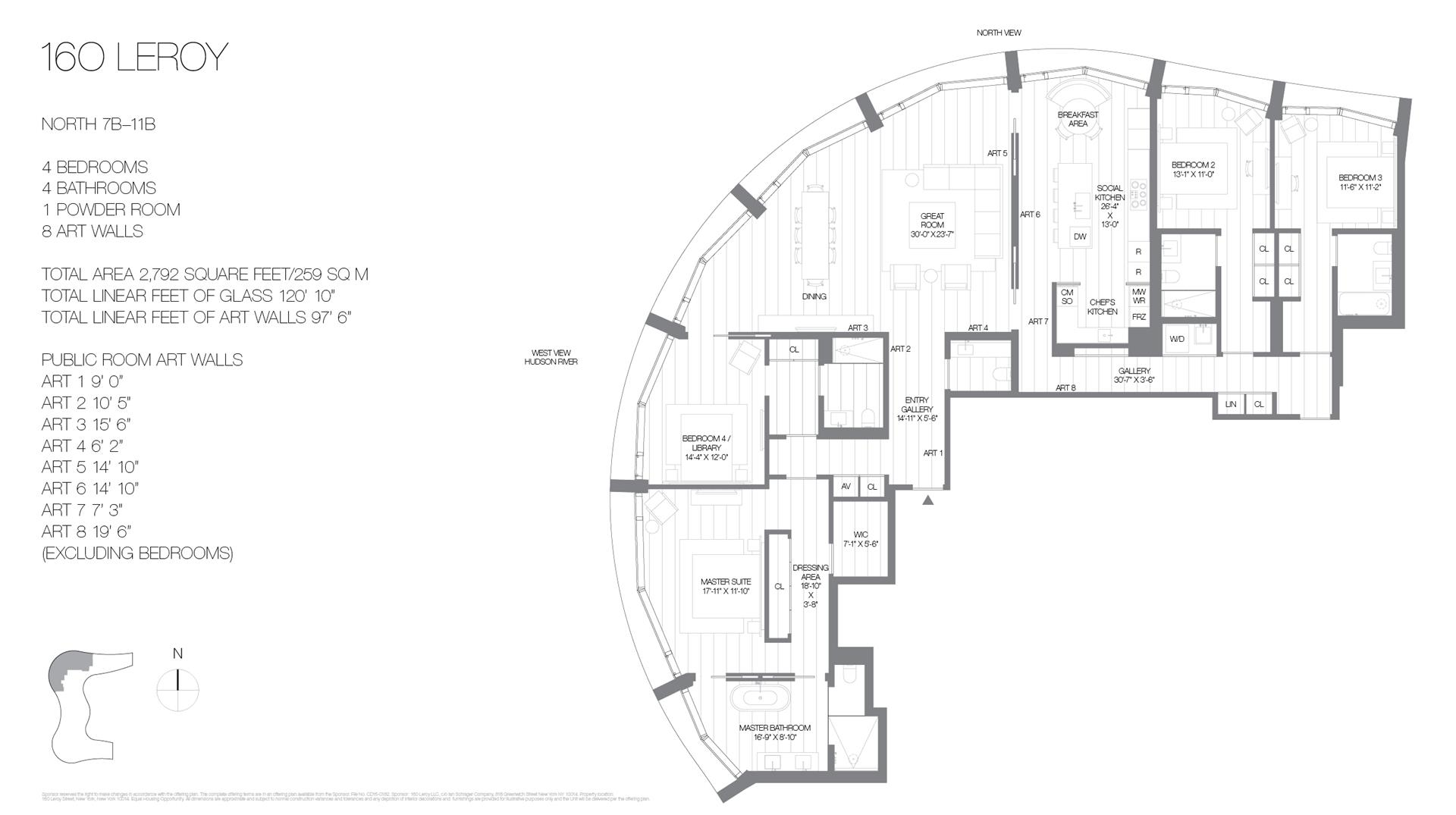 Floor plan of 160 Leroy St, NORTH8B - West Village - Meatpacking District, New York