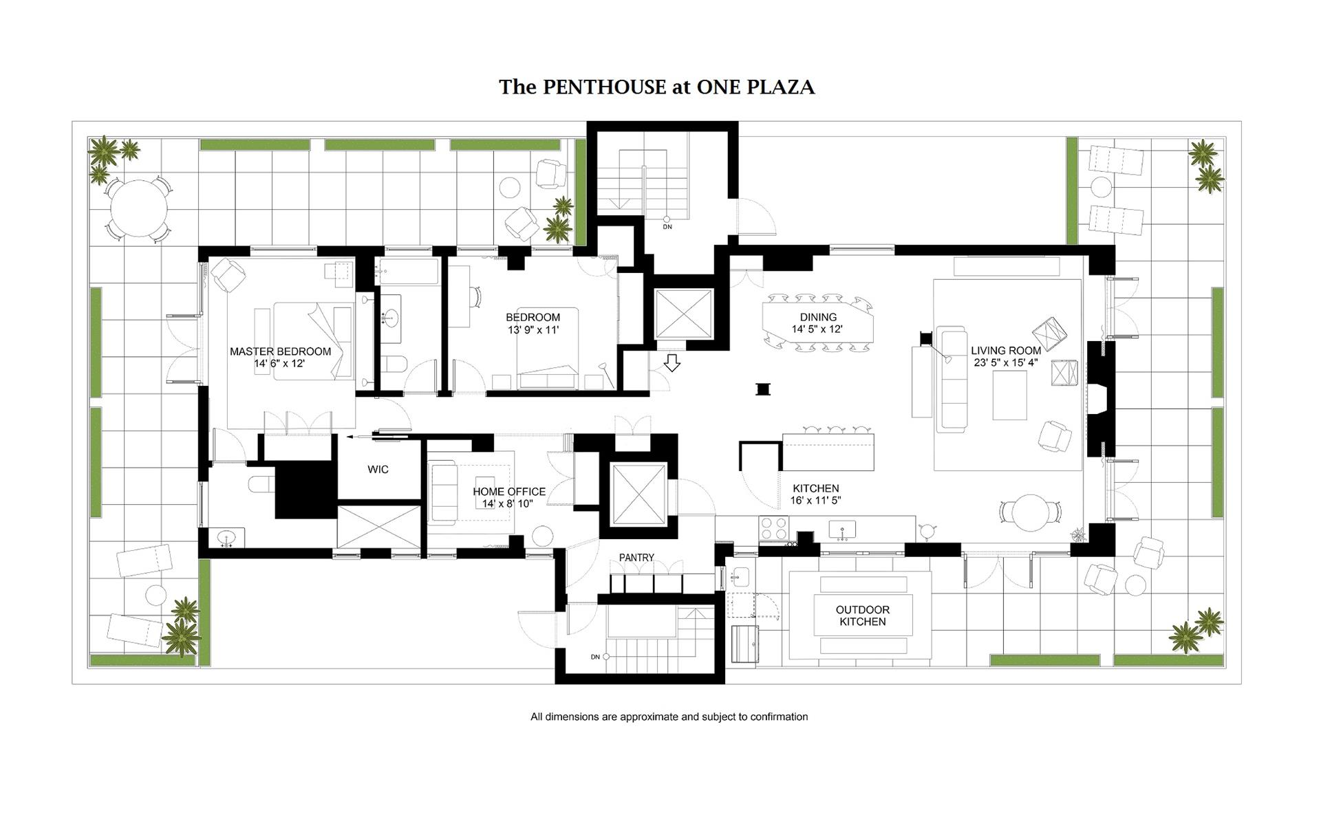 Floor plan of 1 Plaza St West, PENTHOUSE - Park Slope, New York