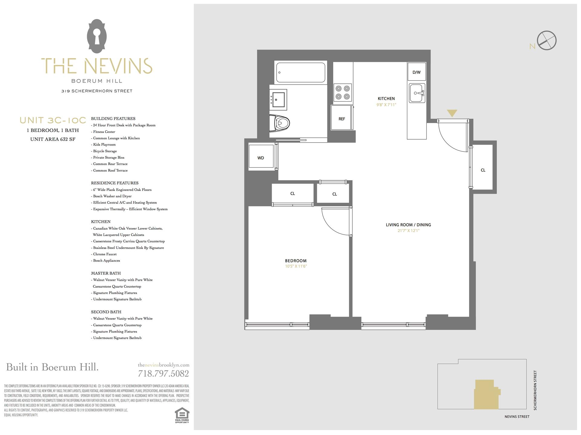 Floor plan of The Nevins, 319 Schermerhorn St, 9C - Boerum Hill, New York