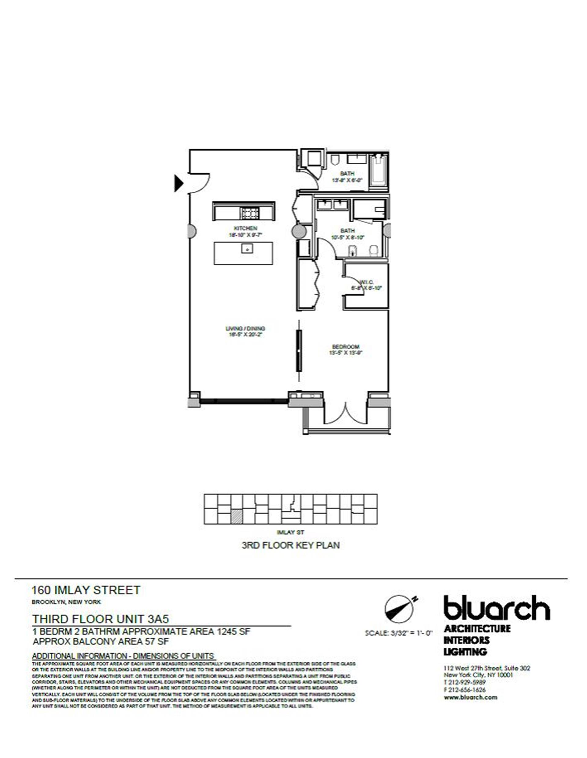 Floor plan of The New York Dock Building, 160 Imlay St, 3A5 - Red Hook, New York