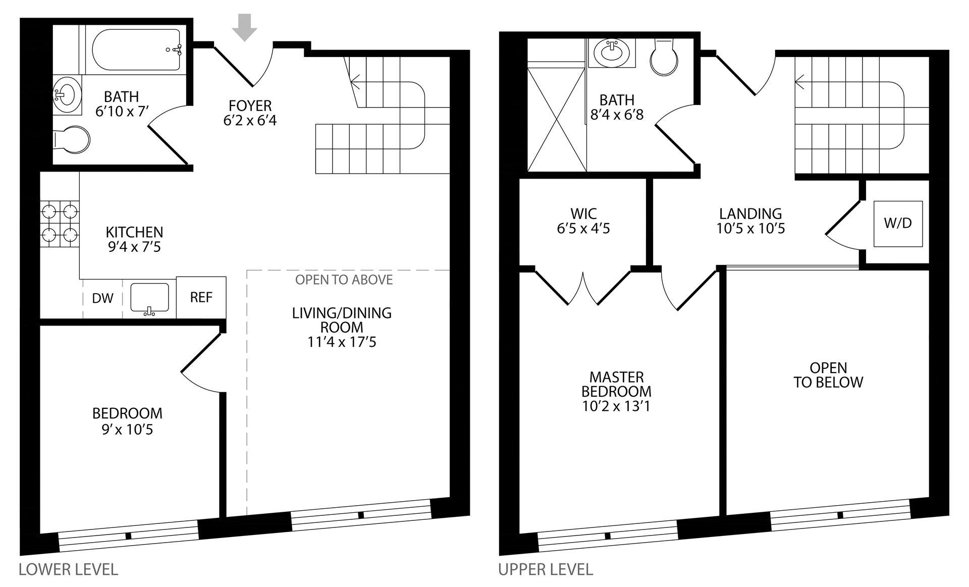 Floor plan of 55 Maspeth Avenue, 3F - East Williamsburg, New York