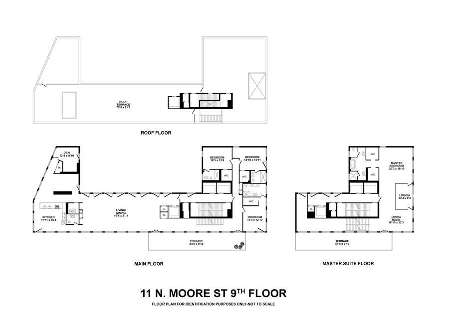 Floor plan of 11 North Moore St, PH - TriBeCa, New York