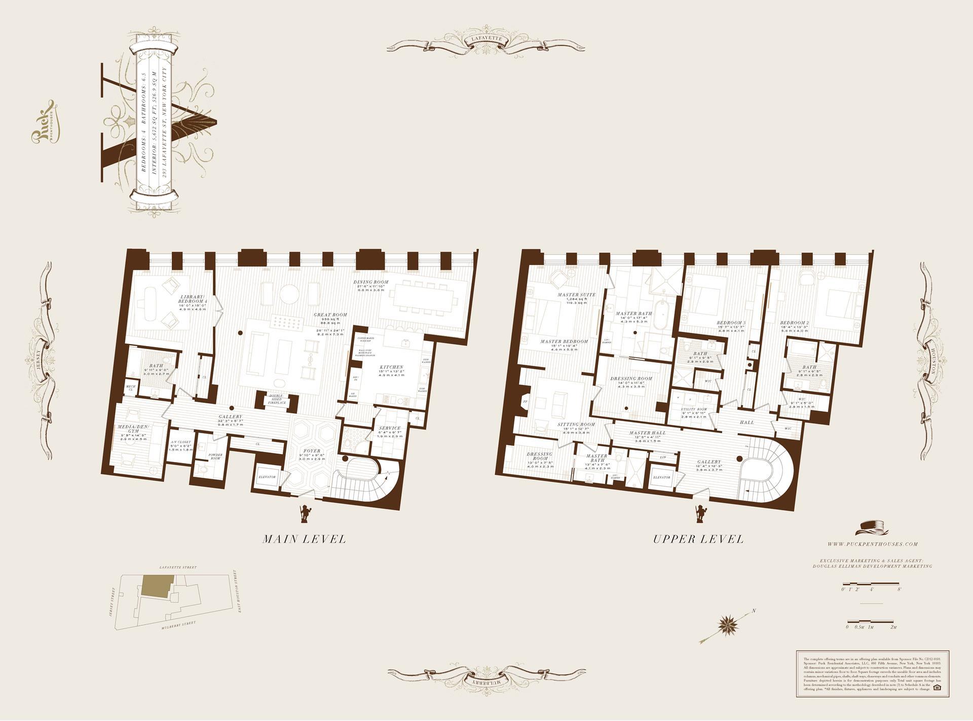 Floor plan of 293 Lafayette St, PHV - SoHo - Nolita, New York