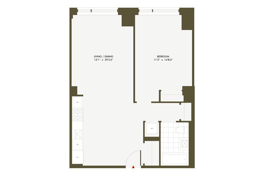 Floor plan of + ART, 540 West 28th Street, 5C - Chelsea, New York