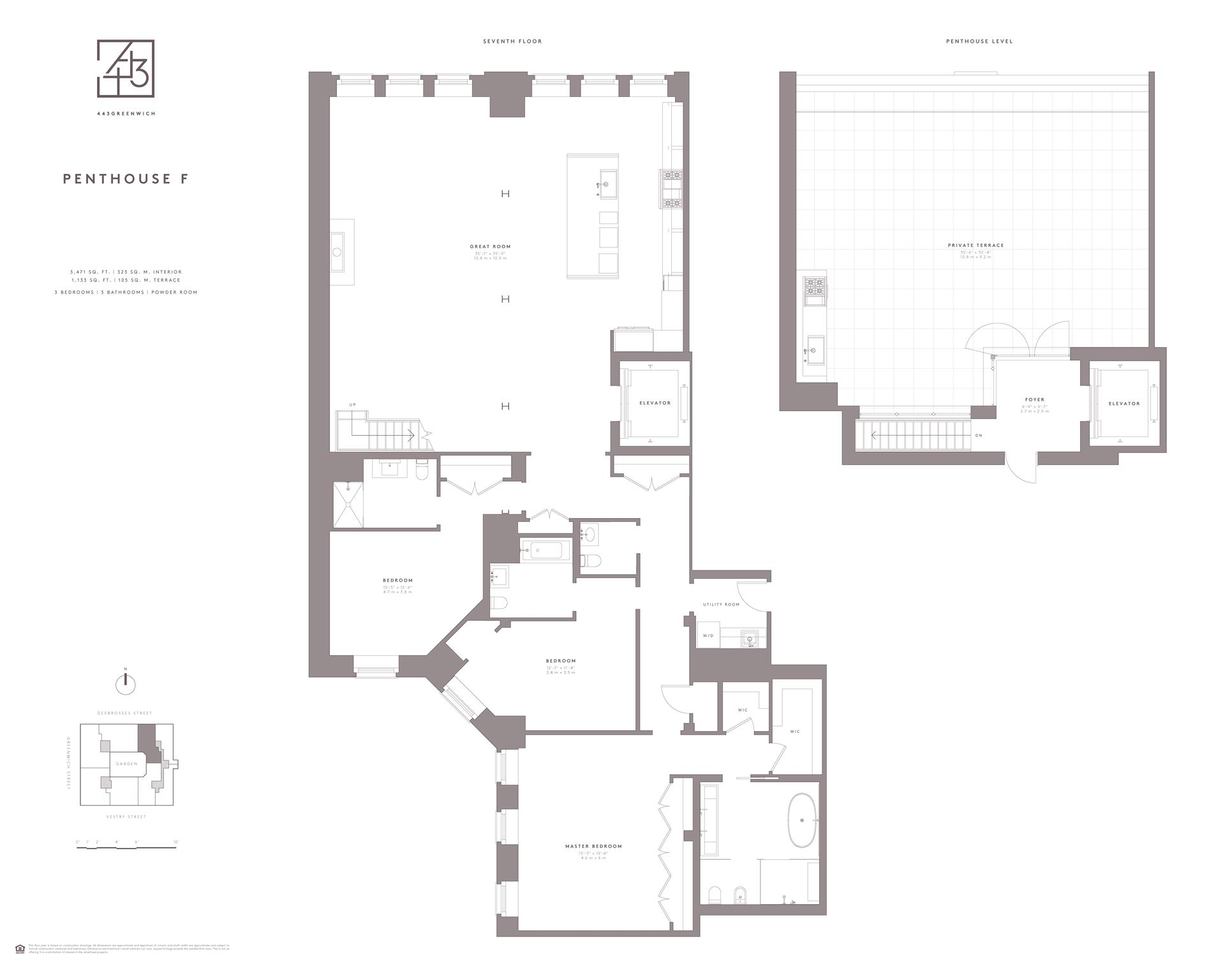 Floor plan of 443 Greenwich St, PHF - TriBeCa, New York