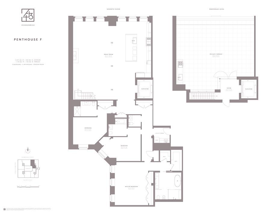 Floor plan of 443 Greenwich St, PHF - TriBeCa, New York