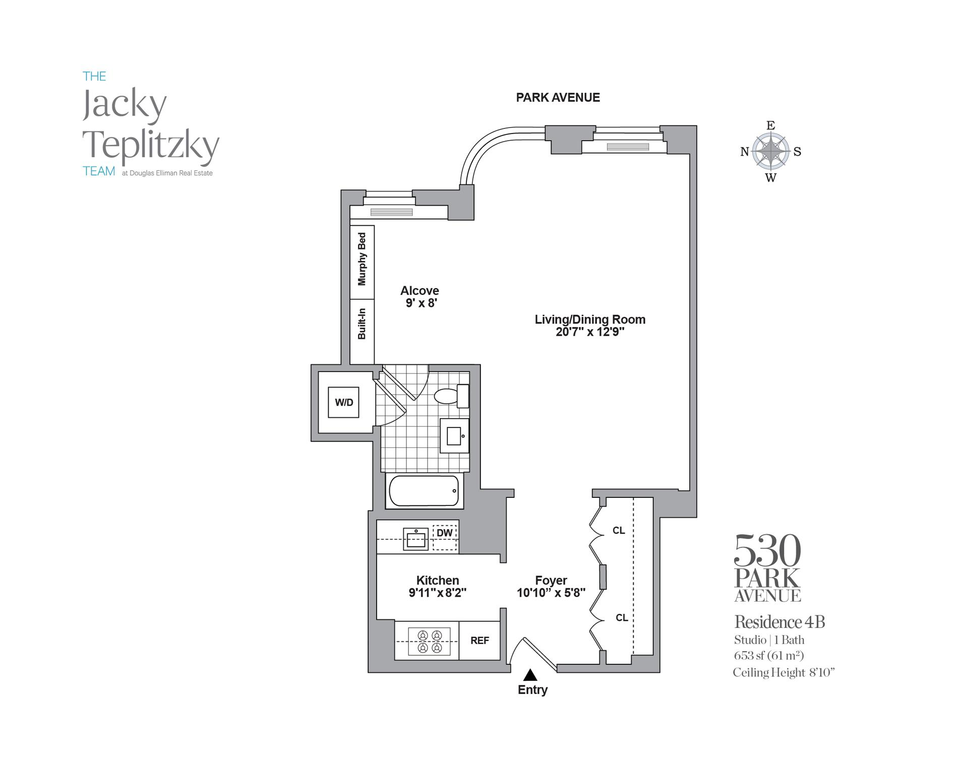 Floor plan of 530 Park Avenue, 4B - Upper East Side, New York