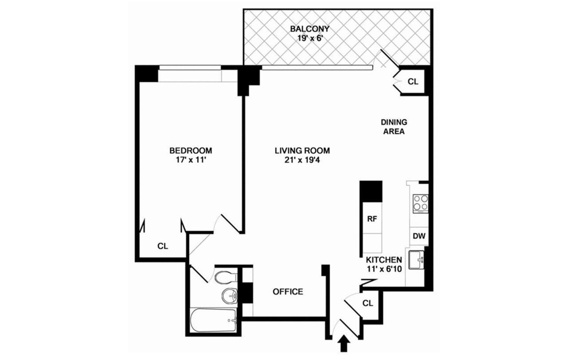 Floor plan of 400 CPW CONDOMINIUM, 400 Central Park West, 18A - Upper West Side, New York