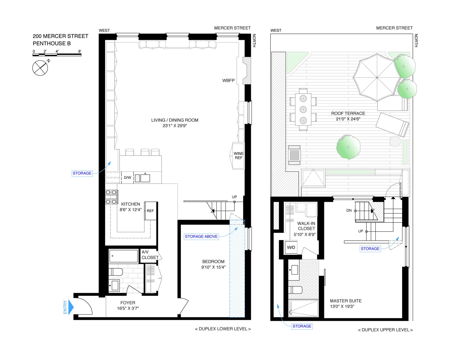 Floor plan of 200 Mercer St, 4B - Greenwich Village, New York