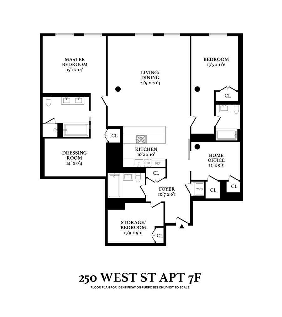 Floor plan of 250 West St, 7F - TriBeCa, New York