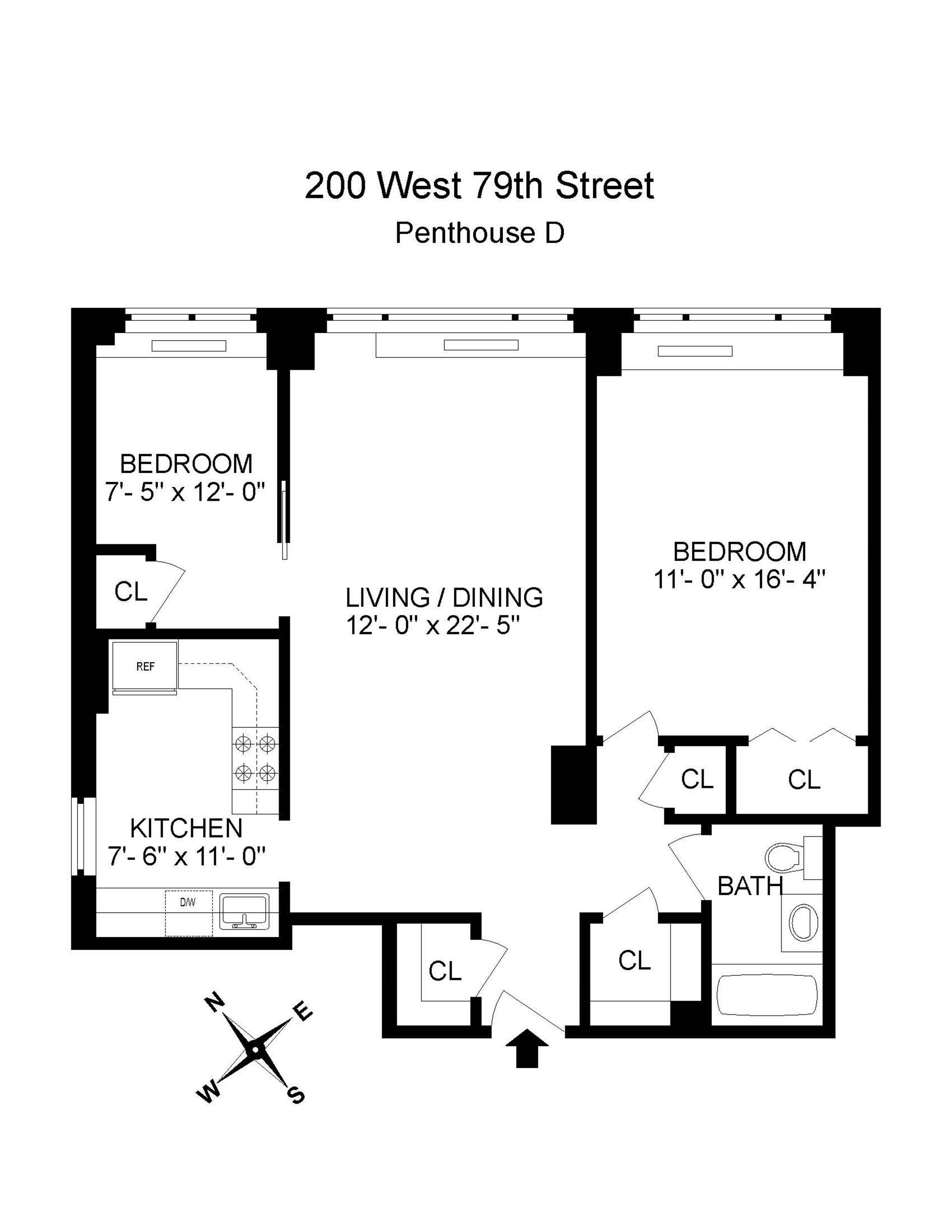 Floor plan of Gloucester, 200 West 79th St, PHD - Upper West Side, New York