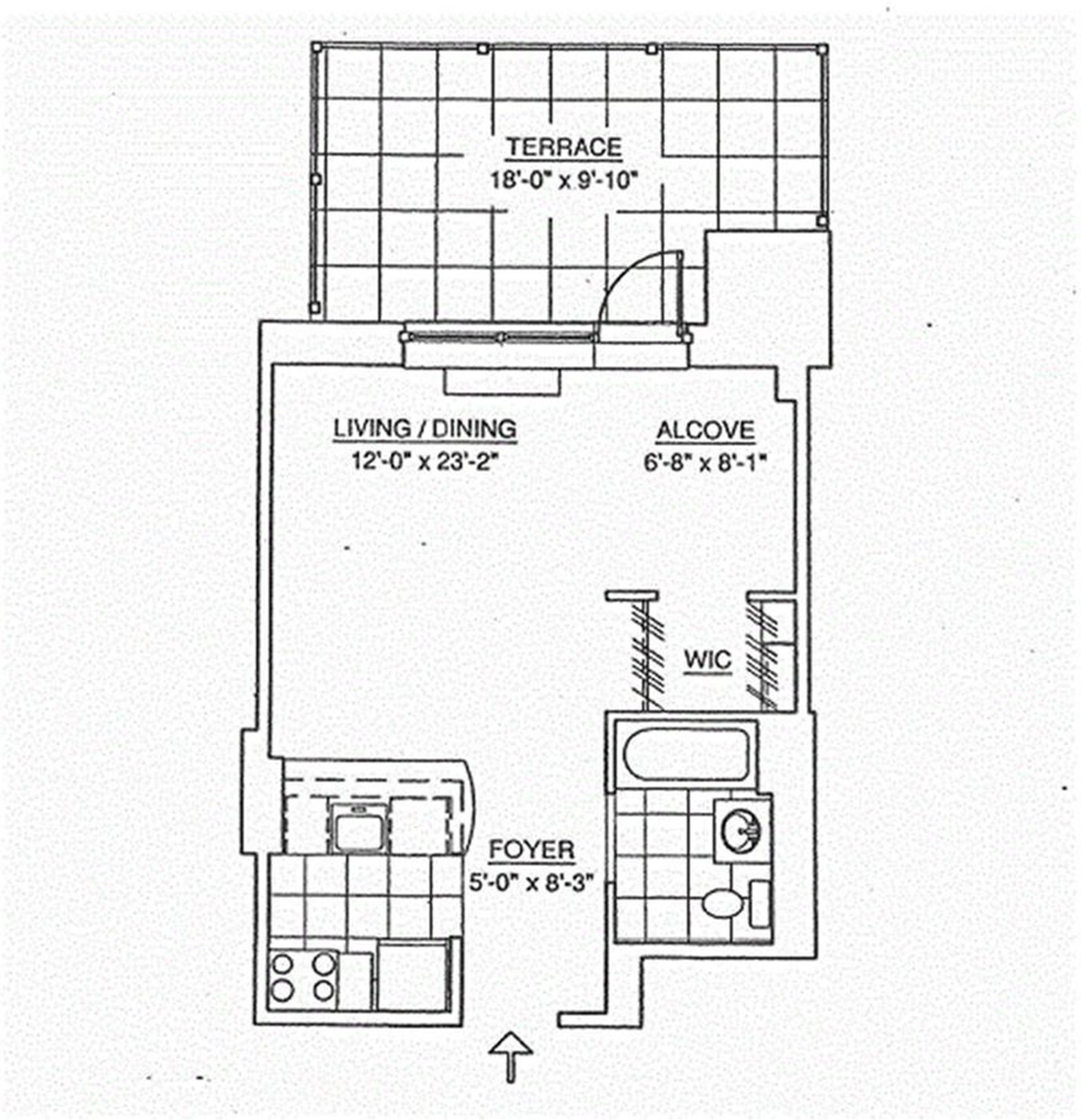 Floor plan of 555 West 23rd St, S3P - Chelsea, New York