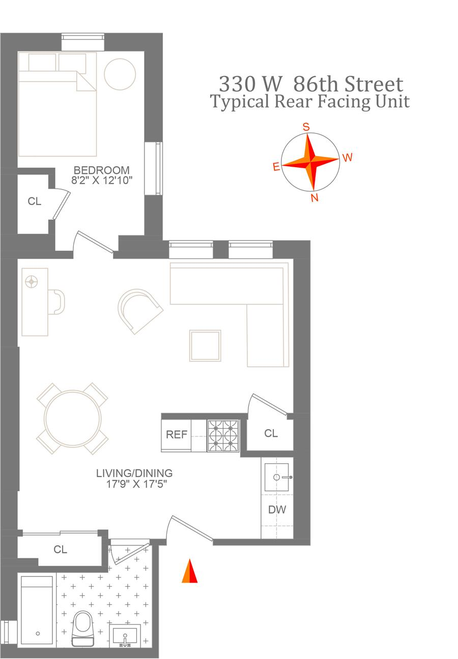 Floor plan of 330 West 86th St - Upper West Side, New York