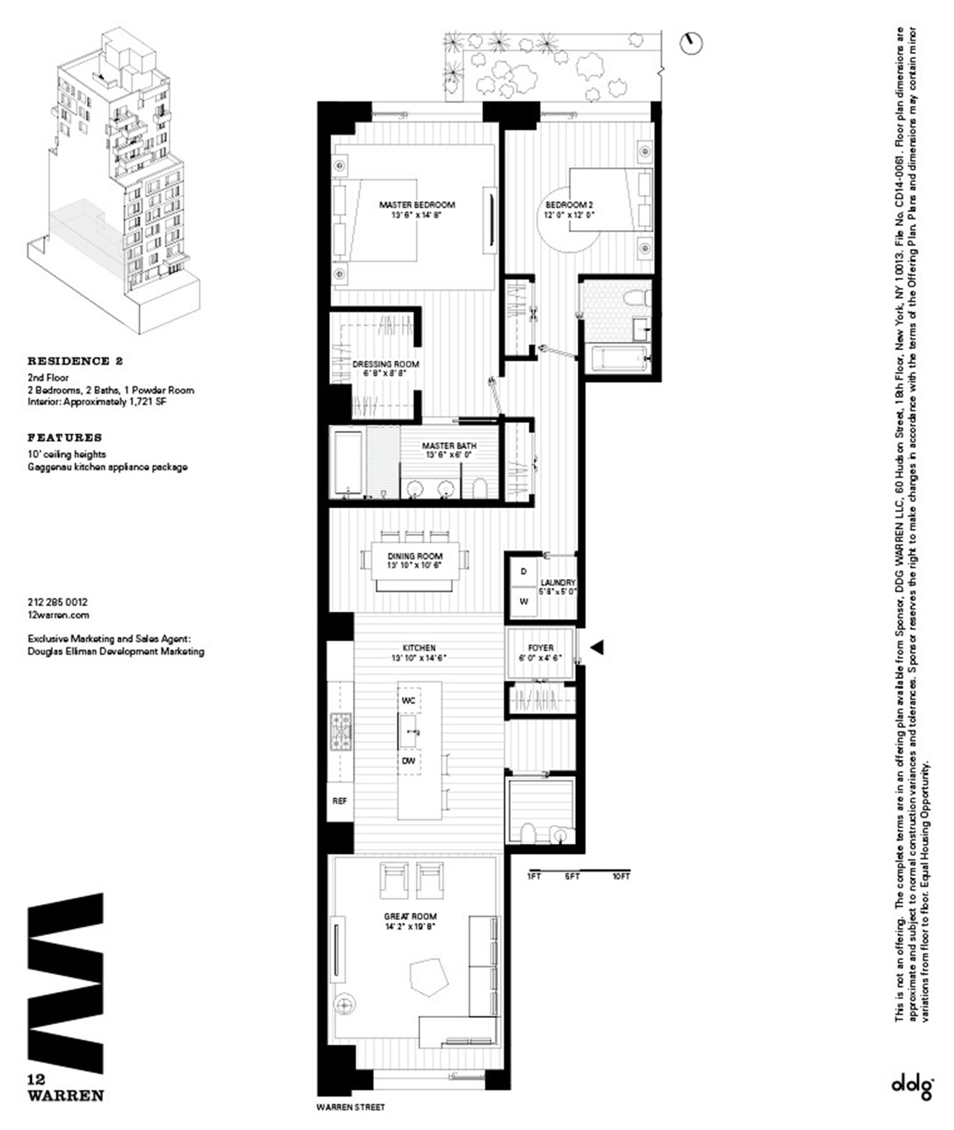 Floor plan of 12 Warren St, 2 - TriBeCa, New York
