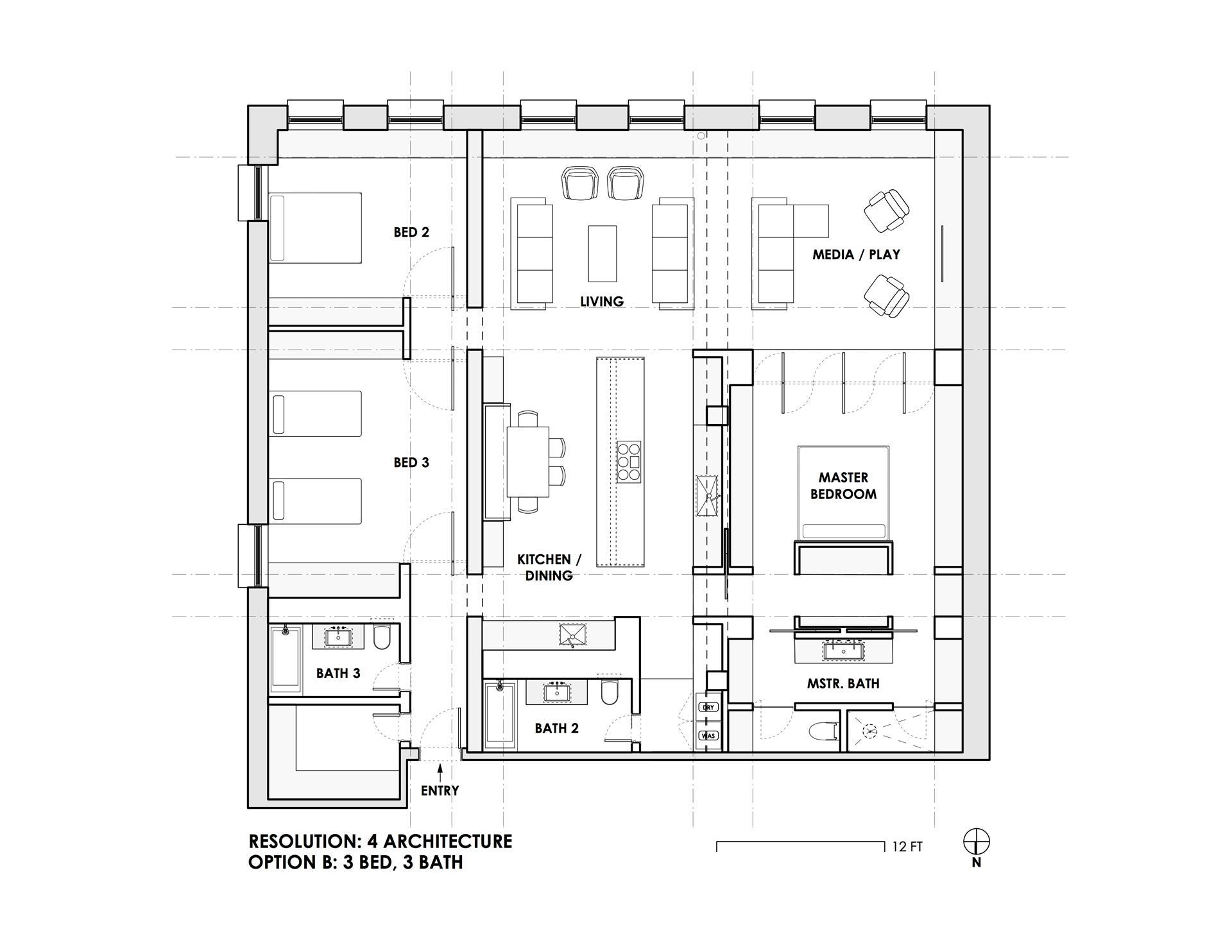 Floor plan of 60 Pineapple St, 6FG - Brooklyn Heights, New York