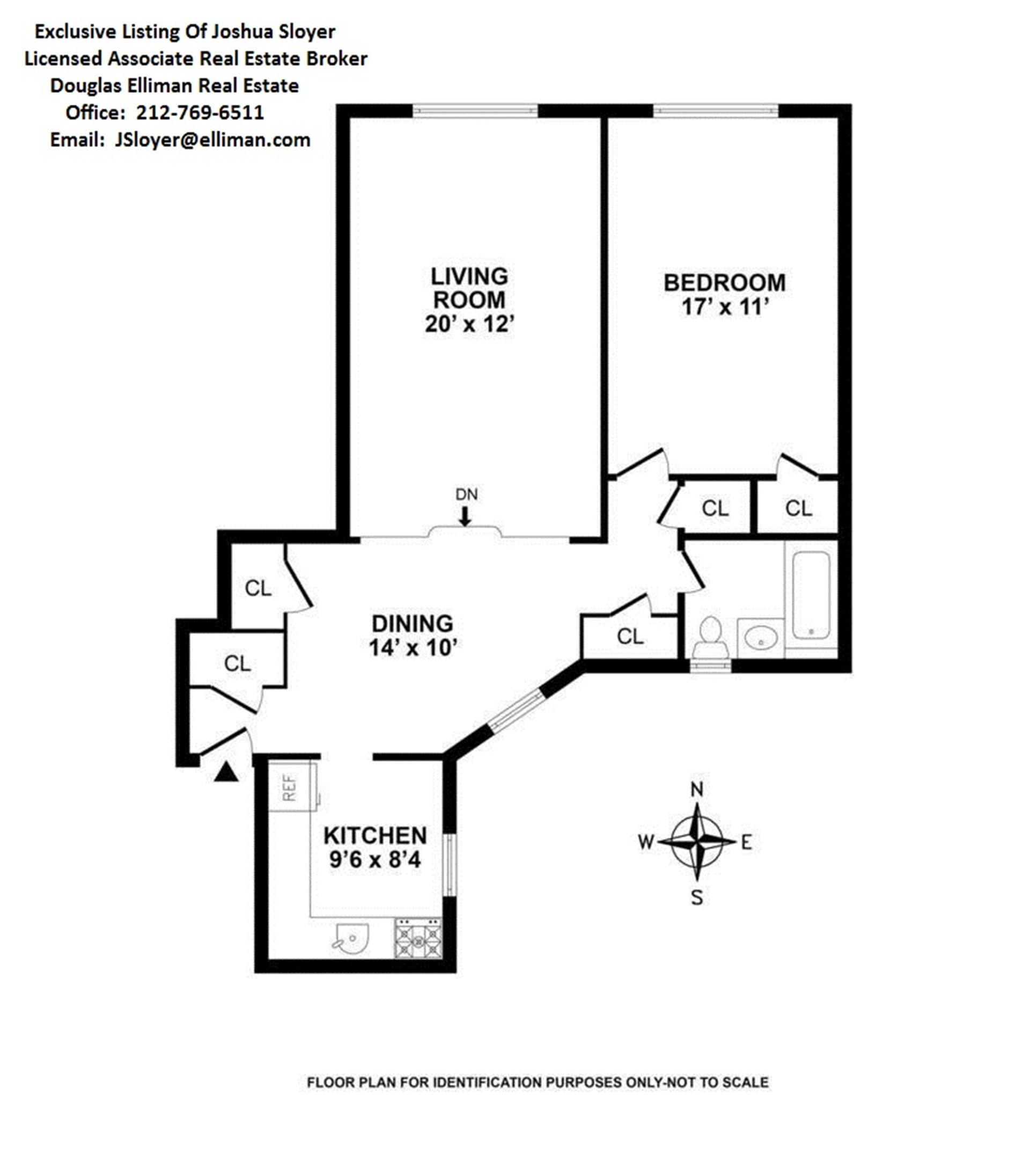 Floor plan of 222 East 35th St, 2B - Murray Hill, New York
