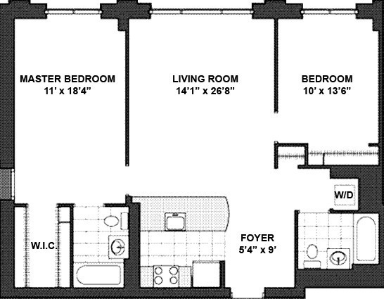 Floor plan of 555 West 23rd St, N5F - Chelsea, New York