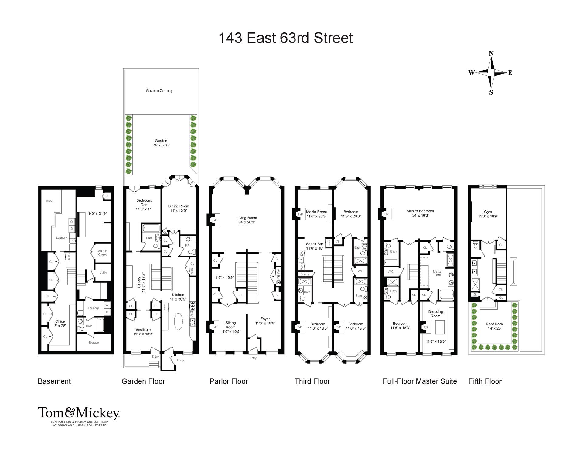 Floor plan of 143 East 63rd St - Upper East Side, New York