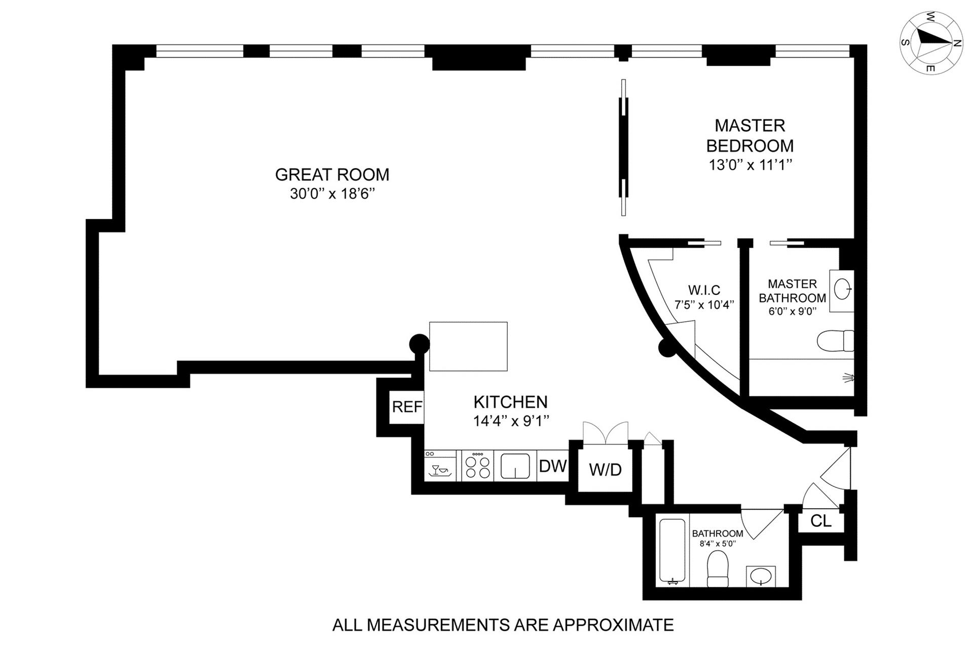 Floor plan of 10 Bleecker St, 5D - NoHo, New York