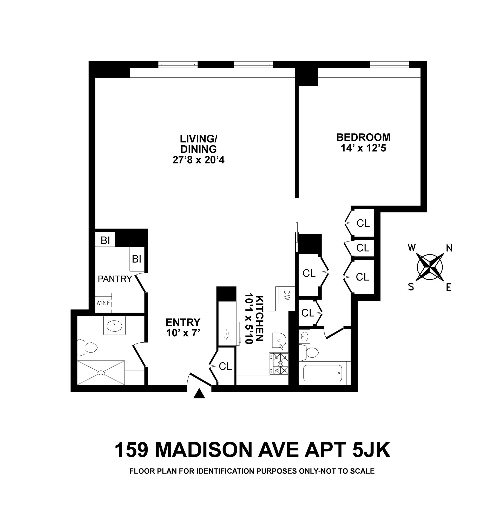 Floor plan of 159 Madison Avenue, 5JK - Murray Hill, New York