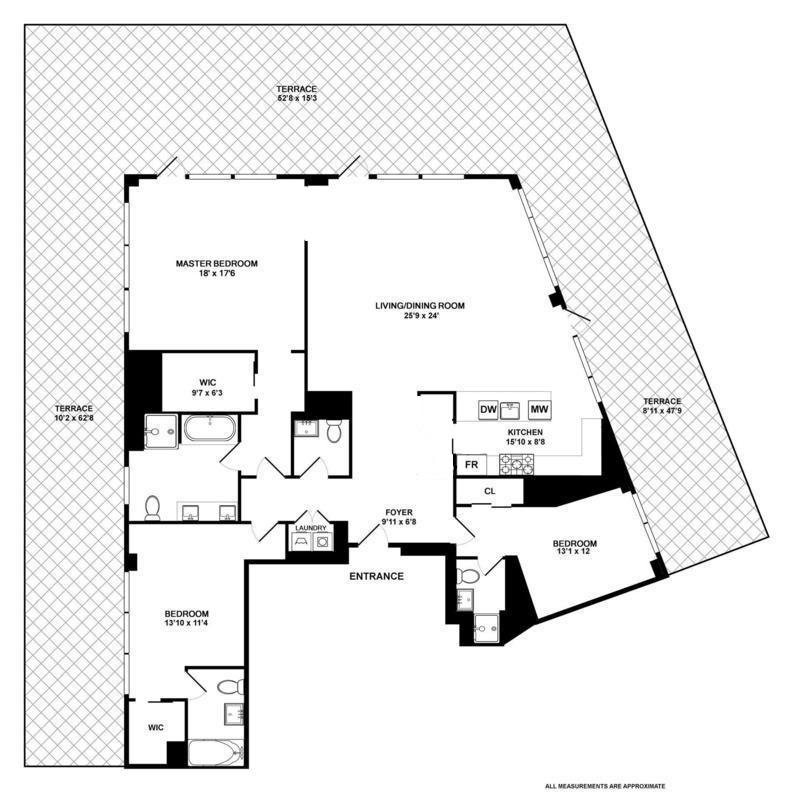 Floor plan of 10 Madison Square West, 18C - Flatiron District, New York