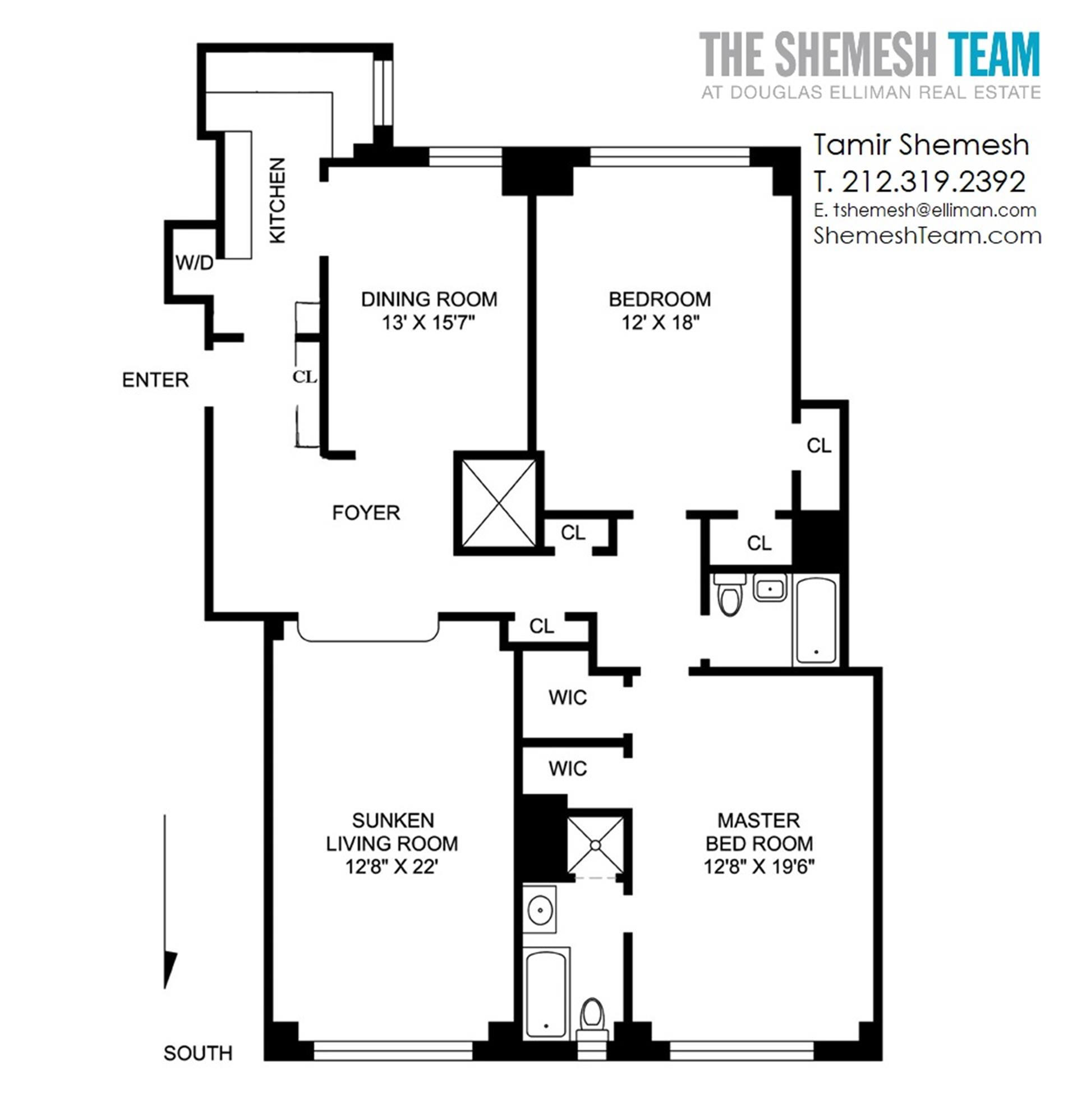 Floor plan of CENTURY, 25 Central Park West, 5I - Lincoln Square, New York