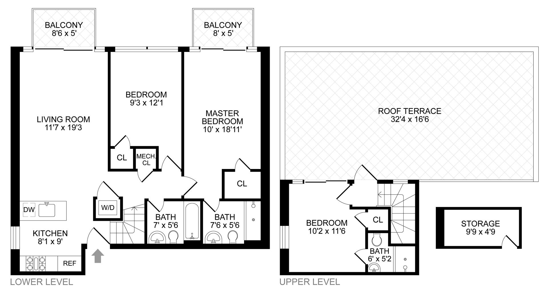 Floor plan of 854 Putnam Avenue, 4B - Stuyvesant Heights, New York