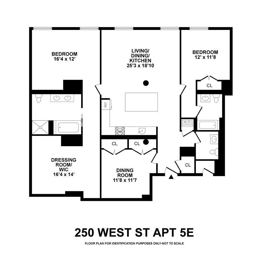 Floor plan of 250 West St, 5E - TriBeCa, New York