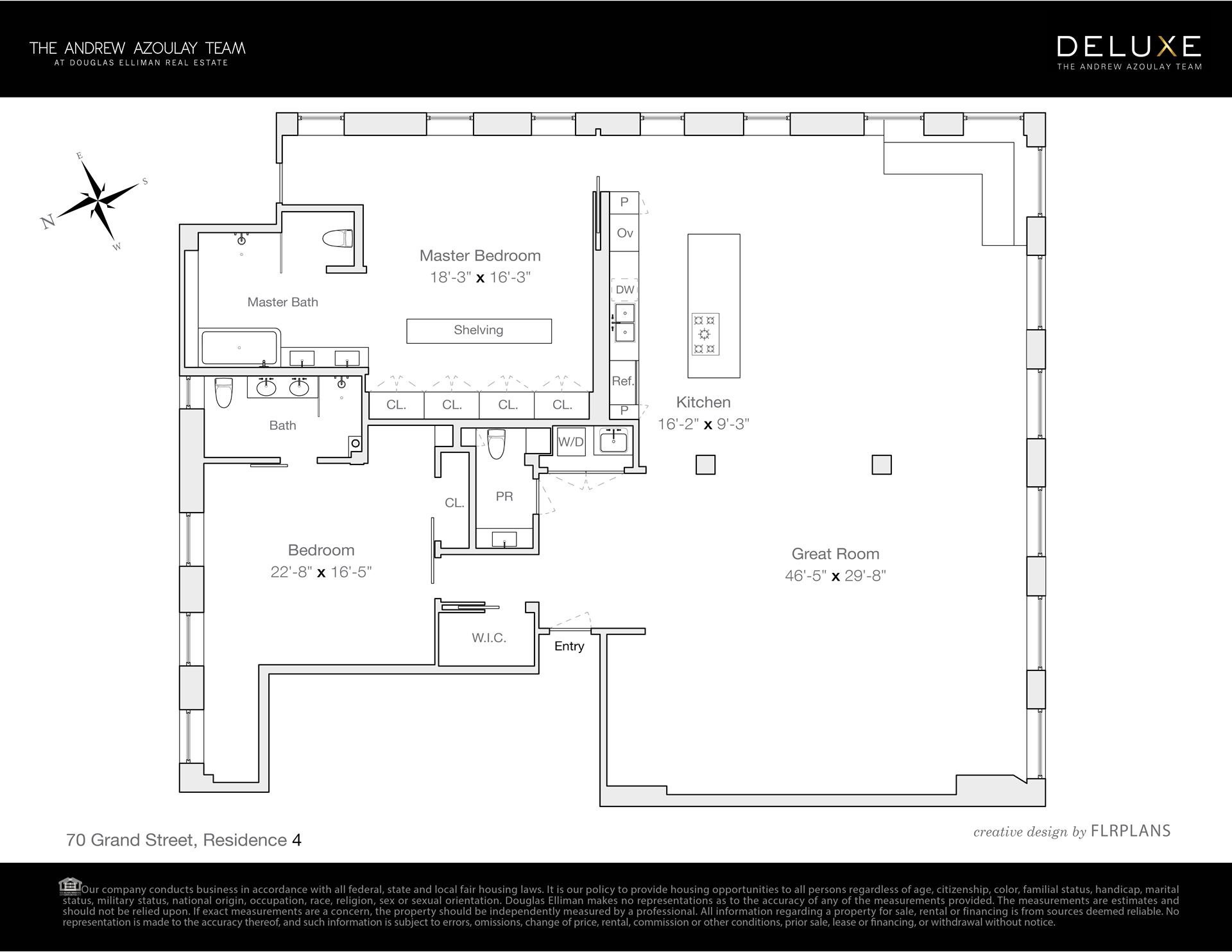 Floor plan of 70 Grand St, 4A - SoHo - Nolita, New York