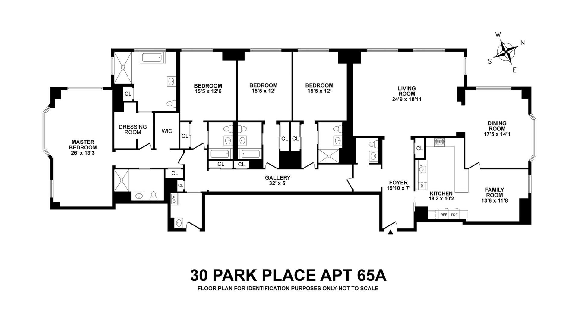 Floor plan of Four Seasons, 30 Park Pl, 65A - TriBeCa, New York