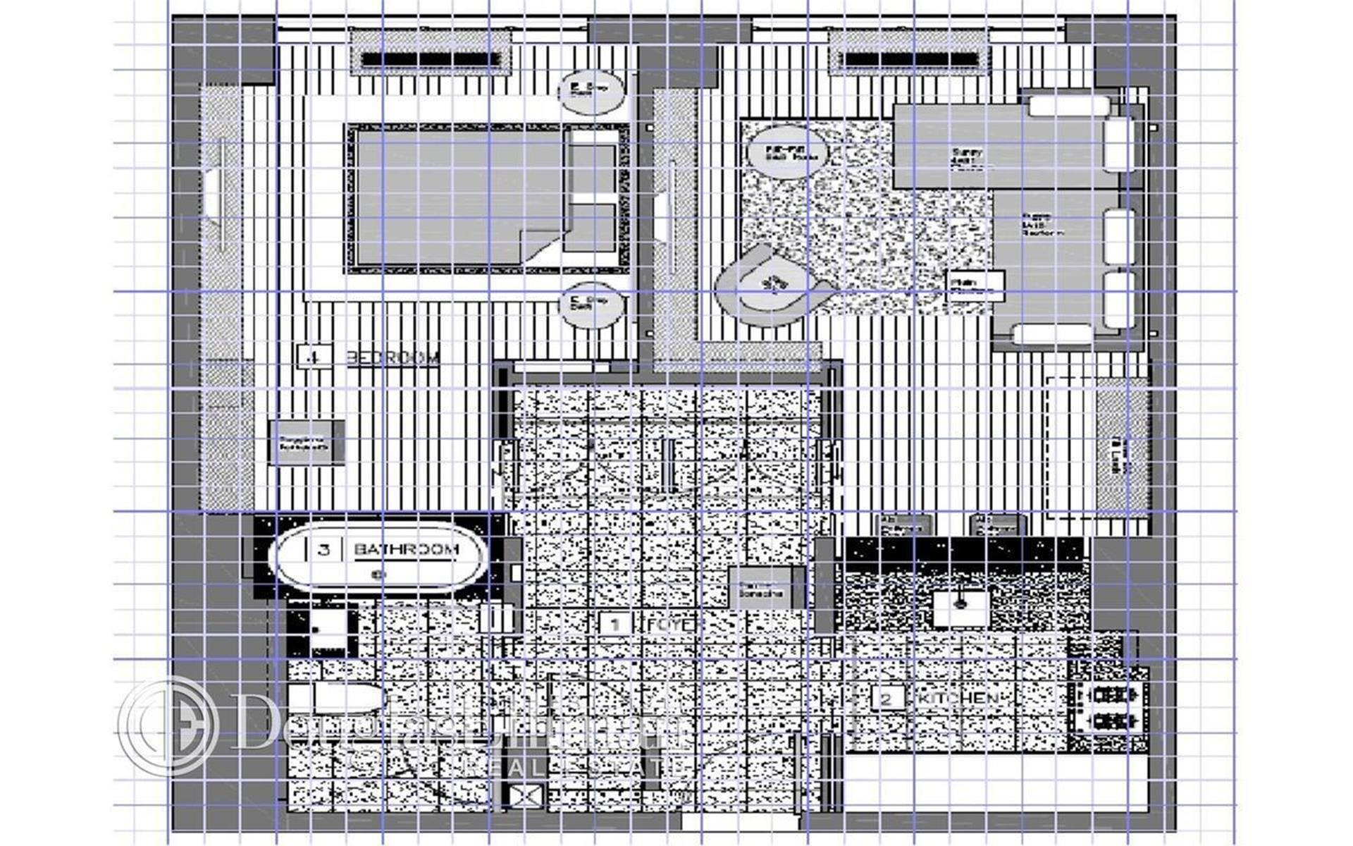 Floor plan of Zeckendorf Towers, 1 Irving Pl, G19D - Gramercy - Union Square, New York