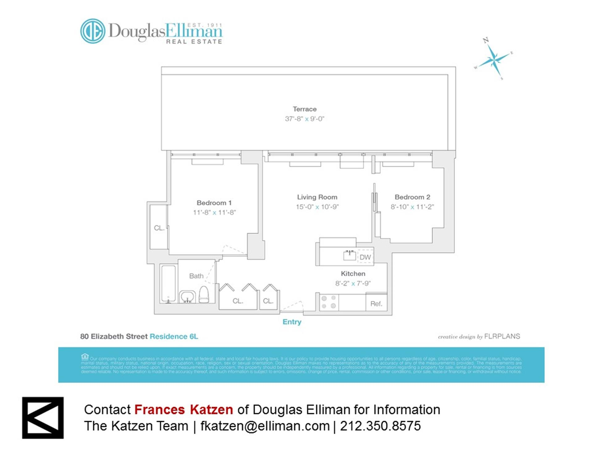 Floor plan of 80 Elizabeth St, 6L - Little Italy - Chinatown, New York