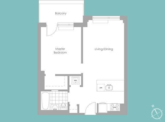 Floor plan of 2-40 51st Avenue, 2M - Long Island City, New York
