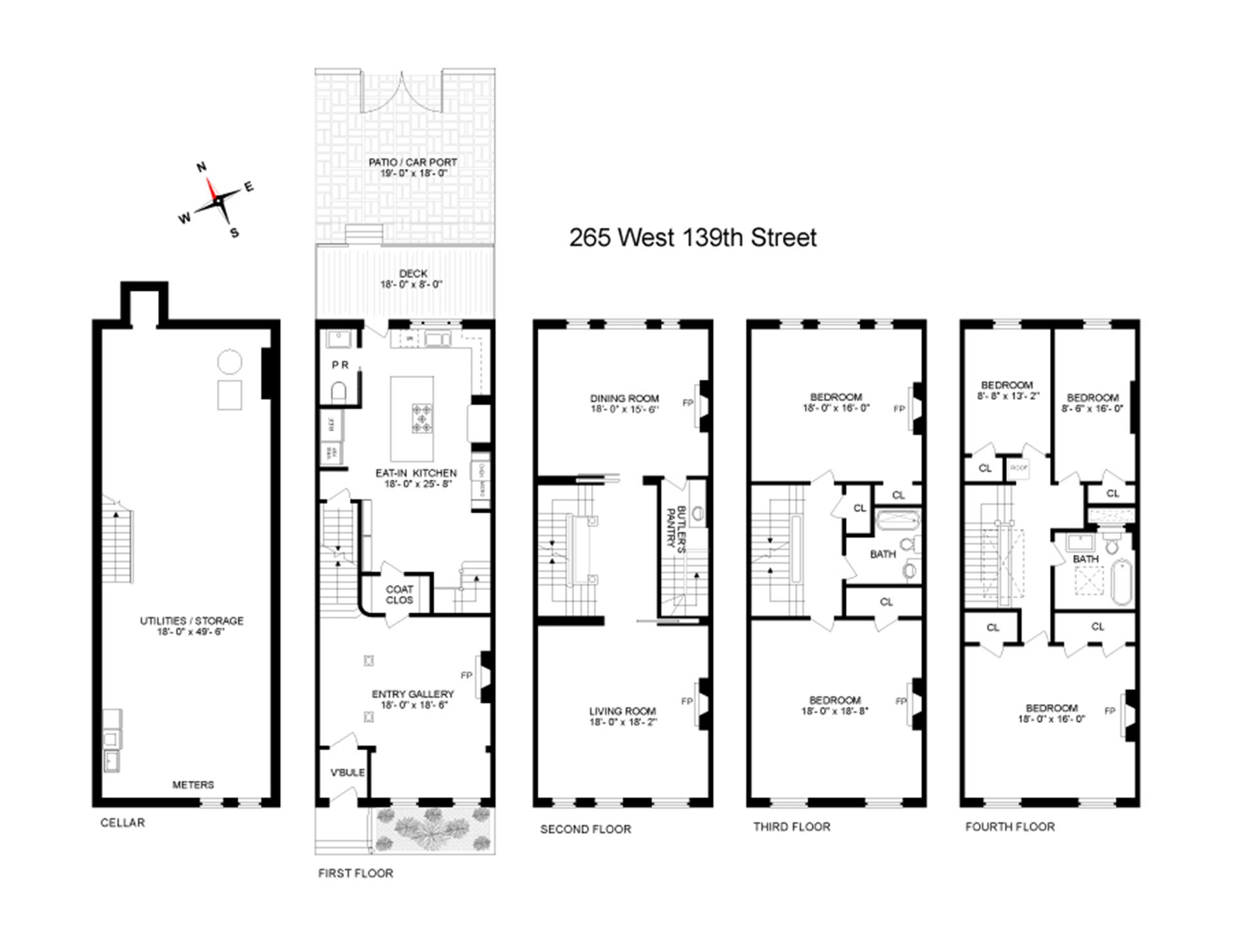 Floor plan of 265 West 139th St - Harlem, New York