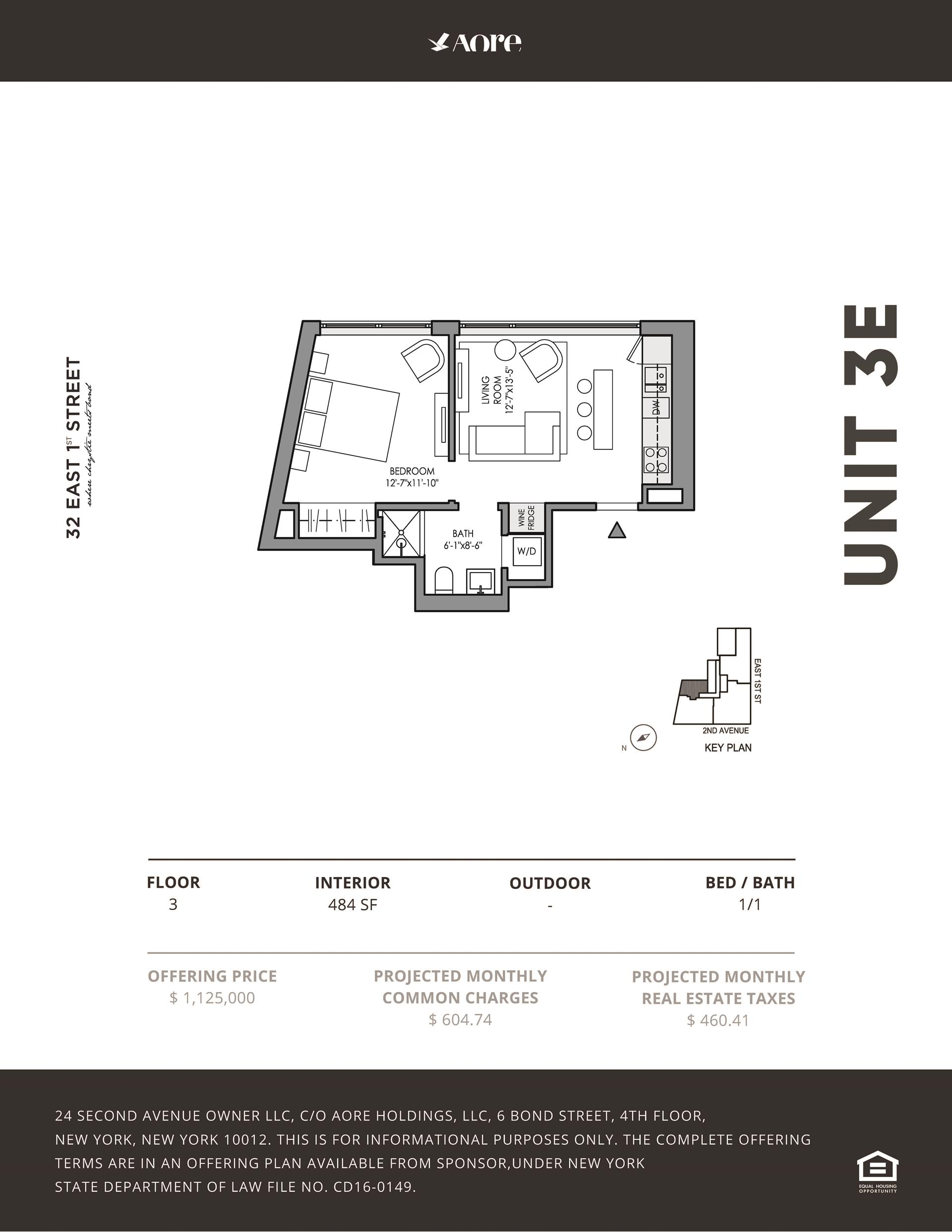 Floor plan of 32 East 1st St, 3E - East Village, New York
