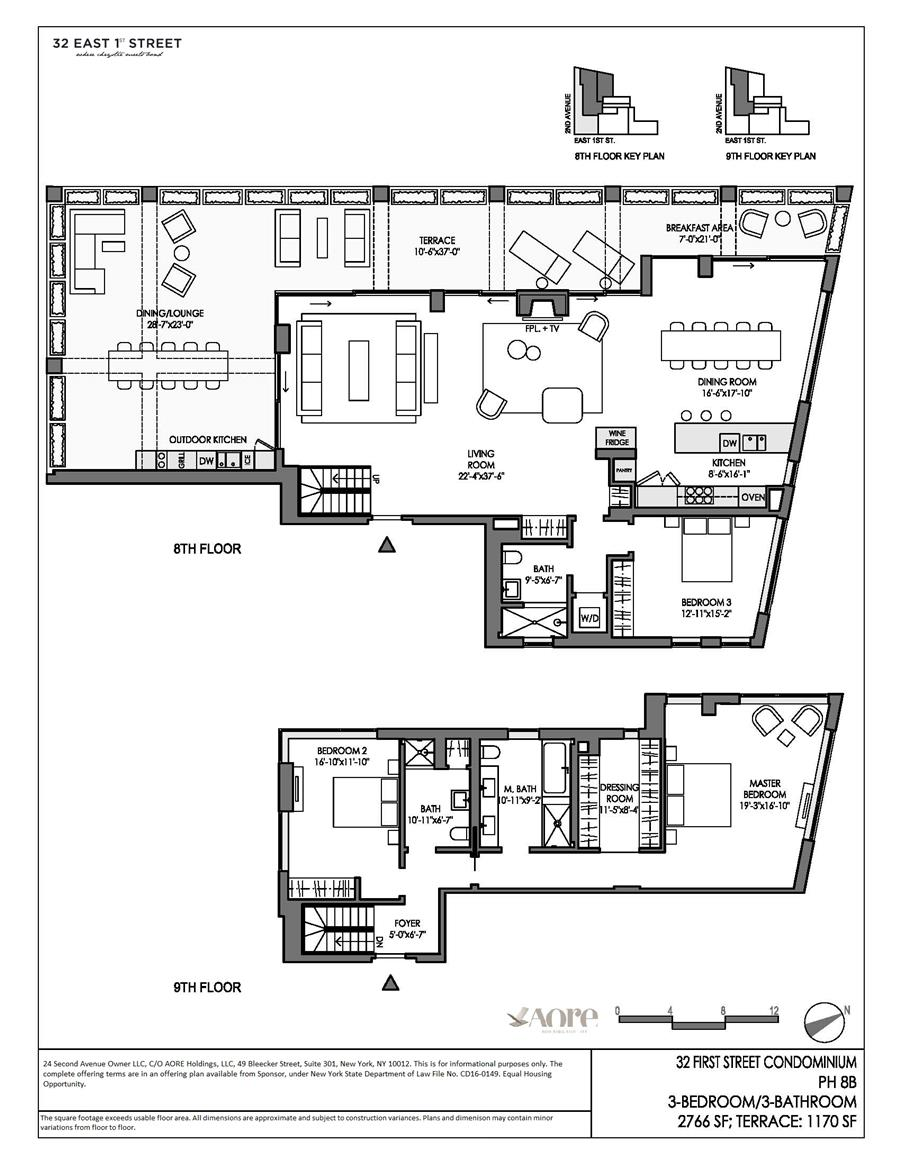 Floor plan of 32 East 1st St, PHB - East Village, New York
