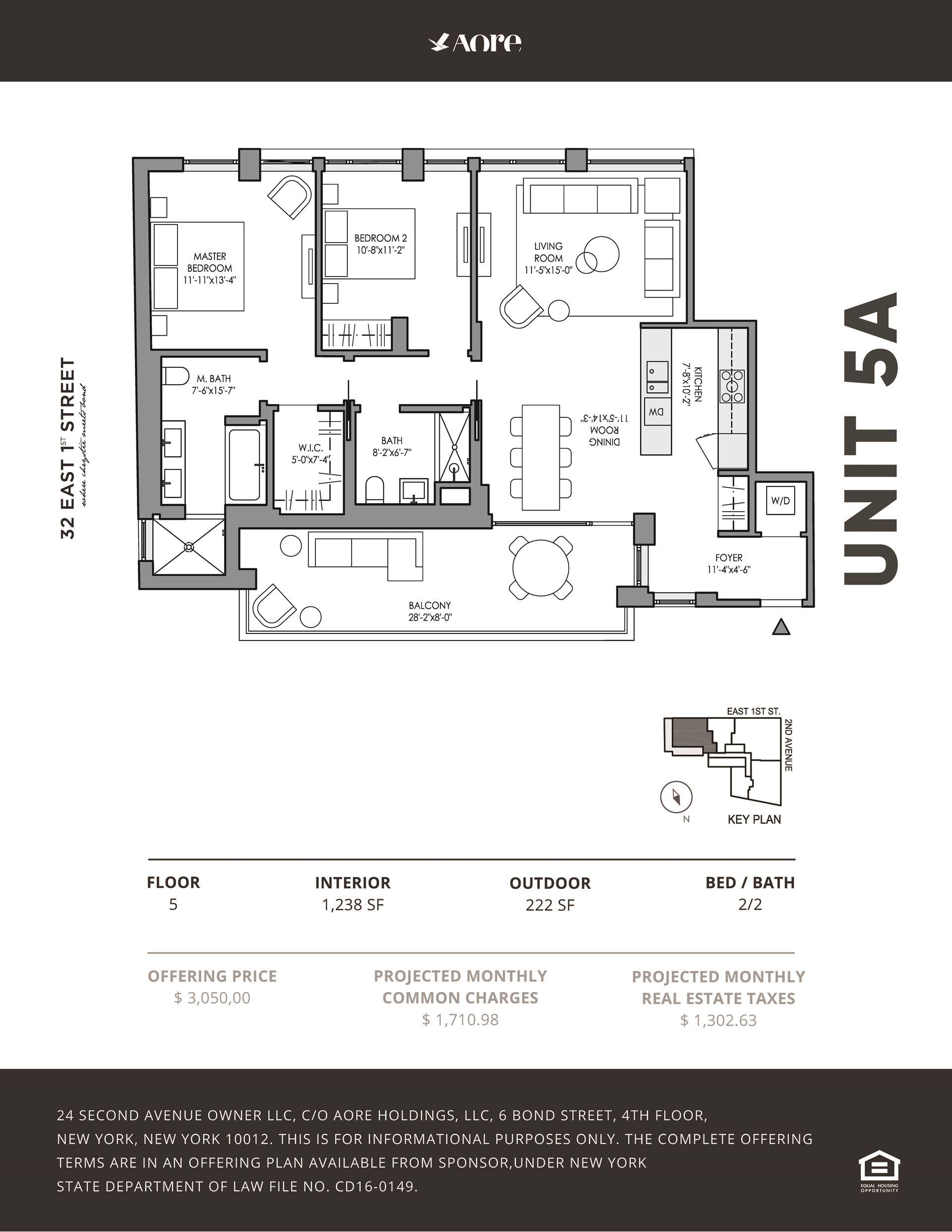 Floor plan of 32 East 1st St, 5A - East Village, New York