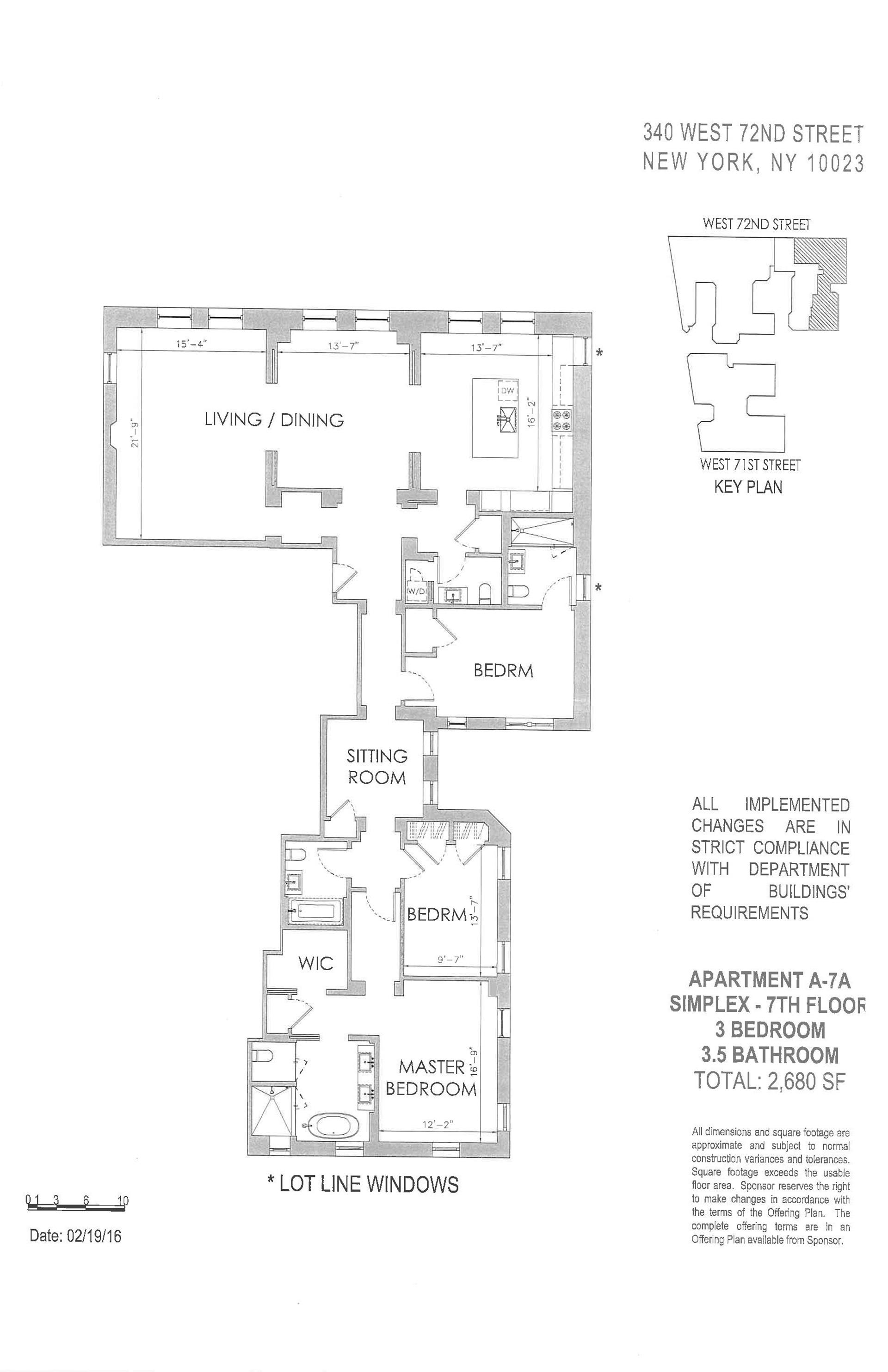 Floor plan of The Chatsworth, 344 West 72nd St, 7A - Upper West Side, New York